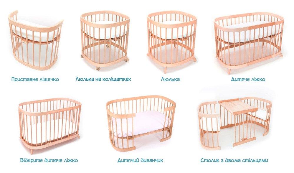 круглые овальные кроватки tweeto купить в karapuzov.com.ua