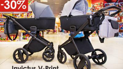 Детская коляска Invictus V-Print со скидкой 30% в Карапузов