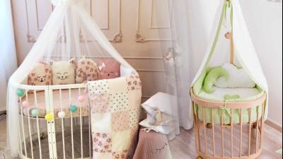 Детские овальные кроватки трансформеры (круглые кроватки)