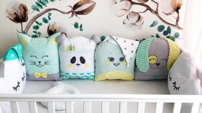 Чем наполняют защитные бортики для детской кроватки