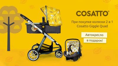 Акции на коляски Cosatto: скидки и подарок