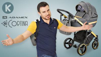 Видео обзор детской коляски Adamex Cortina