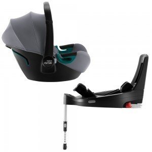 Автокресло Britax-Romer Baby-Safe3 i-Size Frost Grey с платформой Flex Base iSense