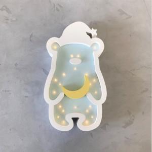Ночник Sabo Concept Мишка в шапке Мятный (N03mn1c)