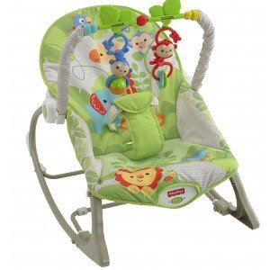Массажное кресло-качалка Fisher-Price Веселые обезьянки (CBF52)