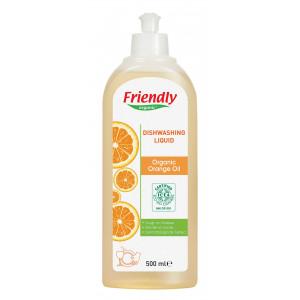 Органическое средство для мытья детской посуды Friendly Organic Апельсинове масло 500 мл (FR0447)