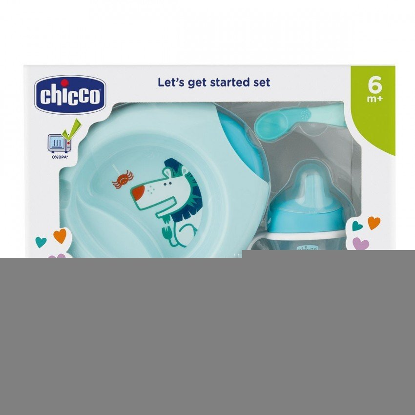 Набор посуды Chicco Meal Set 6м+ голубой (16200.20)
