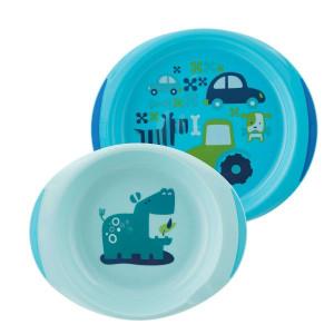 Набор тарелок Chicco Easy Feeding 2 шт 12м+ голубой (16002.20)