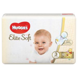 Подгузники Huggies Elite Soft (3) 40 шт (72598)