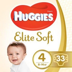Подгузники Huggies Elite Soft (4) 33 шт (47787)