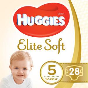 Подгузники Huggies Elite Soft (5) 28 шт (47794)