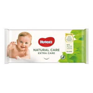 Детские влажные салфетки Huggies Natural Care 56 шт (50176)