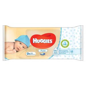 Детские влажные салфетки Huggies Pure Triplo 56 шт (50039)