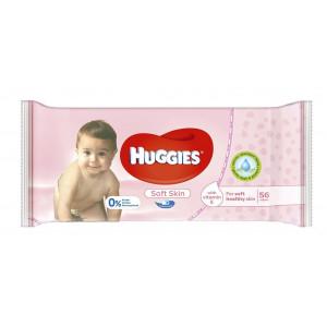 Детские влажные салфетки Huggies Soft Skin 56 шт (50213)