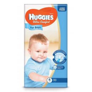 Подгузники для мальчиков Huggies Ultra Comfort (4) 50 шт (65385)