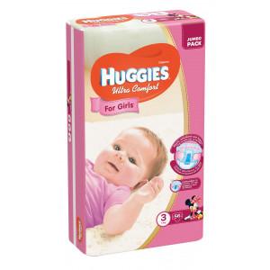 Подгузники для девочек Huggies Ultra Comfort (3) 56 шт (65354)