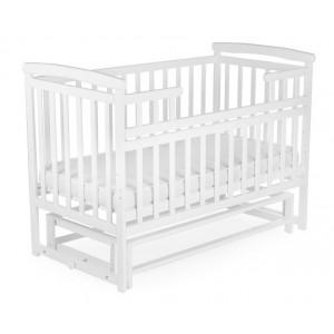 Кроватка без ящика DeSon Transformer белый (Дитячий Сон Лодочка)