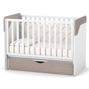 Кроватка Верес Сидней с маятником и ящиком капучино-белый