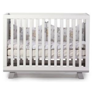 Кроватка Верес Манхэттен бело-серый