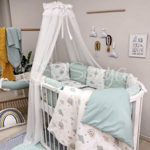Постельный комплект Маленькая Соня Baby Desing Радуга 6 предметов