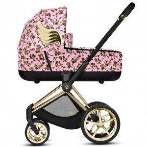 Коляска 2 в 1 Cybex Priam by Jeremy Scott Cherubs Pink (Сайбекс Приам)