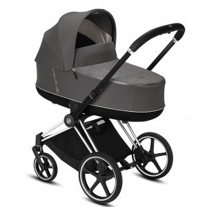 Коляска 2 в 1 Cybex Priam Lux Soho Grey Chrome Black