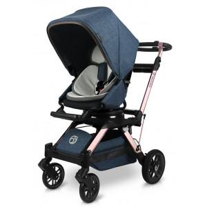 Прогулочная коляска Orbit Baby G5 Melange Navy шасси Rose Gold