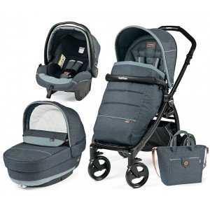 Коляска 3 в 1 Peg-Perego Elite/Book Plus Blue Denim