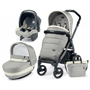Коляска 3 в 1 Peg-Perego Elite/Book Plus Luxe Beige