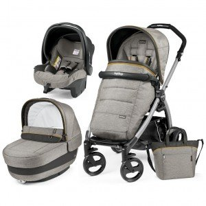 Коляска 3 в 1 Peg-Perego Elite/Book Plus Luxe Grey
