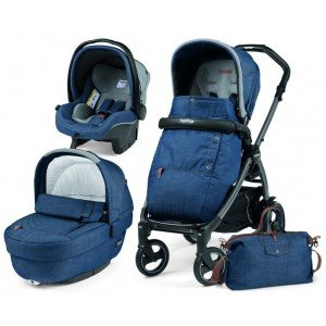 Коляска 3 в 1 Peg-Perego Elite/Book Plus Urban Denim