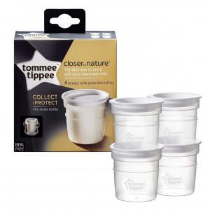 Контейнеры для хранения молока Tommee Tippee 4 шт. арт. 42301041 (71583)