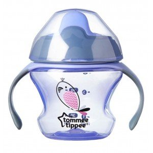 Первая чашка-непроливайка Tommee Tippee 150 мл фиолетовая арт. 44710187 (17383)