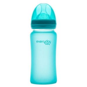 Бутылочка cтеклянная термочувствительная детская Everyday Baby 240 мл (10223)