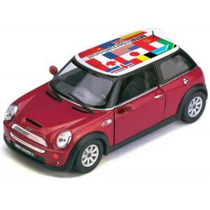 Машинка Kinsmart Mini Cooper S Print (KT5059WF)