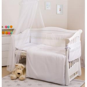 Детская постель Twins Magic sleep Classic 6 предметов белая (7191)