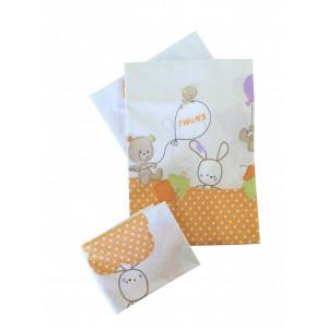 Сменная постель Twins Comfort Горошки оранжевая (4932)
