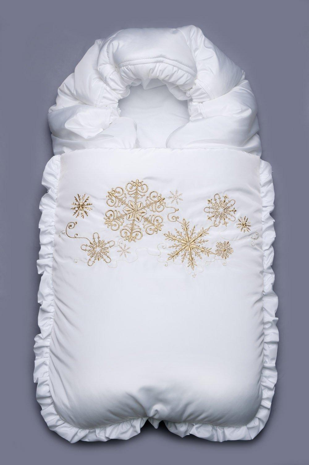 Зимний конверт для новорожденной своими руками